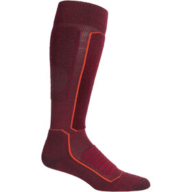 Icebreaker Ski+ Medium OTC Sokken Heren, cabernet/jet heather